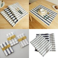 Pano de guardanapo japonês fios de algodão fresco fresco esteira tapete de mesa pano de pano moda simples hotel pingente foto fundo pano 3 n2