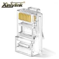 XintyLink RJ45 Bağlayıcı RG RJ 45 CAT6 Ethernet Kablo Fiş RG45 Kedi 6 Ağ LAN UTP 8P8C UNSHIELDED JACK Modüler 50 adet 100 adet1
