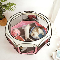 Portátil plegable PET TENTE Casa de perro Jaula octogonal para gato Tienda Playpen Puppy Kennel Easy Operation Fence Outdoor Big Dogs House