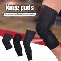 1個のセルラー膝パッド超薄いスポーツKneecapの圧縮クラッシュ防止の膝の袖ジムを実行しているサイクリング膝サポート1