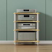 Altavoces de estantería 4 Capa HIFI Cabinete de audio Altavoz con estante de potencia de nail absorbente