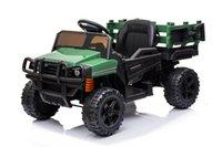 Paseo en UTV con TRAILER12V batería recargable Juguete agrícola de vehículos agrícolas con 2 velocidades, camión robusto eléctrico de audio Bluetooth USB W42220809