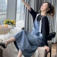 Frauen Casual Spaghetti Strap Denim Kleid Damen gebleicht gewaschene Denim Kleider Weibliche 2020 Kleid Sommer Herbst1