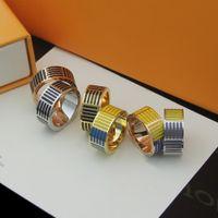 Designer Ring Titan Stahl Ring Männlichen Ring Paar Schmuck mit europäischem und amerikanischem Edelstahl Schmuck Paar Ringe