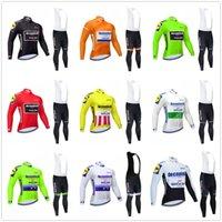 사이클링 저지 세트 2021 Pro 팀 빠른 단계 겨울 열 양털 자전거 의류 긴 소매 MTB 자전거 저지주기 유니폼 세트
