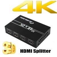 كابلات الصوت موصلات الفاصل 1 في 4 out 4K 1080P 3D كامل HD الفيديو مفتاح التبديل ل HDTV DVD PS3 Xbox1