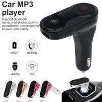 자동차 C8 FM 송신기 MP3 플레이어 모듈레이터 핸즈프리 핸즈프 핸드 키트 USB 자동차 충전기가있는 무료 무선 블루투스 자동차 키트 TF U 디스크 플레이 지원