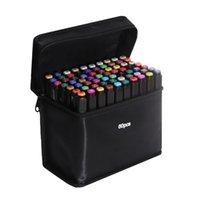 Touchfive 60/80 Colores Marcadores de alcohol Botches Sketching Marcadores para patinar Pincel Oily Lápices Dibujo Set MANGA Art Supplies 201125