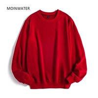 Moinwater Mulheres Casual Suéter Senhora New Streetwear Hoodies Feminino Terry Branco Black Hoodie Tops Outerwear MH2002 201212