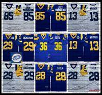 Vintage 40th Jerome Bettis 29 Dickerson 28 Marshall Faulk 85 Jack Youngblood 13 Kurt Warner Diacon Jones Jersey AC1
