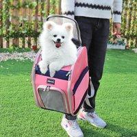 Hundeträger für kleine Hunde Katzen Gemütliches Mesh Outdoor-Welpen Katze Hundetaschen Tragbare Reiserucksack für Chihuahua Mops Pet Qylxhe