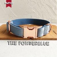 Collier de chien personnalisé de MutCTCO Le collier de collier pour animaux de compagnie durable PowtCe pour votre maison Pet 5 tailles LJ201109