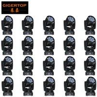 Großhandelspreis 20 Stück 7x12w Led RGBW Wash / Zoom DMX512 bewegliches Hauptlicht Professionelle Hochzeit
