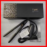 V Gold Max Saç Düzleştirici Klasik Profesyonel Styler Hızlı Doğrultma Demir Şekillendirme Aracı Perakende Kutusu