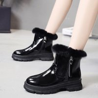 Women Winter Snow Boots 2020 New Fashion Style High-top Shoes Casual Woman Waterproof Warm Woman Female High Quality Black erf65
