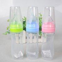 Baby 120 ml Flasche Löffel Ergänzung Reis Müsli Kleinkind Leckfestes Abgabe Löffel Saft Getreide Fütterung Flasche1
