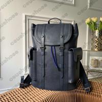 Christopher Mens Designer mochila billetera Eclipse inversa inversa gran capacidad de tendencia maletín bolsos bolso de viaje bolsa de cuero de lona totes