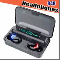 F9 5C 블루투스 5.0 이어폰 무선 헤드폰 블루투스 이어폰 핸즈프리 헤드폰 스포츠 이어 버드 게임 헤드셋 VS F9 848D