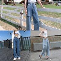 2rl pantalones vaqueros de verano Mujeres elásticos de tipo delgado Pantalones de mezclilla New Ladies Lady Jeans Retro Den Cintura Bordado Bordado Bolsillo