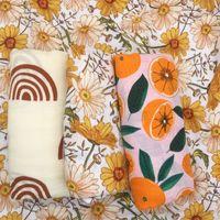 120x120cm Bamboo Coton Couvertures de mousseline de mousseline de bain respirante douce enveloppe bébé Swaddle 201130