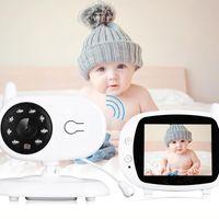 Mini kameralar 3.5 inç kablosuz video bebek monitör gece görüş uyku izleme dijital elektronik nanny walkie talkie rengi