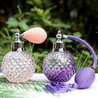 Bouteille de parfum de parfum de parfum cristal de style vintage / longue de pulvérisation