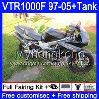 Körper + Tank für Honda Superhawk Flat Black VTR1000F 97 98 99 00 01 05 56HM.34 VTR1000 F VTR 1000 F 1000F 1997 1998 1999 2000 2001 Verkleidungen