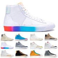 Moda Blazer Orta 77 Erkek Kadın Koşu Ayakkabıları Yelken Gri Kumquat Dorothy Gaters Hack Paketi İyi Oyun Erkek Eğitmen Spor Sneakers