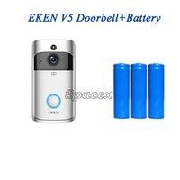 Venta caliente V5 Wireless Auto Night Vision PIR Motor Doorbell Inicio Seguridad WiFi Video en tiempo real Minitor para House Apartments Batería