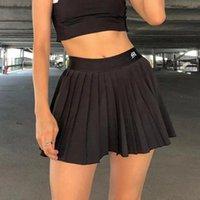 Beyaz Pileli Etek Kısa Kadın Elastik Bel Mini Etekler Seksi Mircro Yaz Nakış Mini Tenis Etek Yeni Tiki