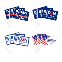 Biden Hand Flagge Biden Harris Hand-Flagge Banner Biden US-Präsidentschaftswahl 14 * 21cm8 Trumpeter-Flagge