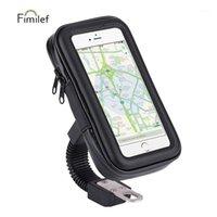 Teléfono celular soportes Soporte para bicicletas universal Soporte Soporte de soporte de 4.7-6.3 pulgadas Motocicleta impermeable Motocicleta Motocicleta Moto Bolsa Caso 1