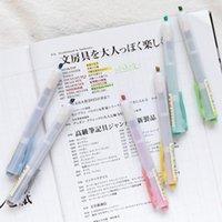 Sharkbang 1 ADET Yaratıcı Basın Tipi Fosforlu kalem Kelimeler Marker 2 Farklı Kullanım Kawaii Okul Kırtasiye1