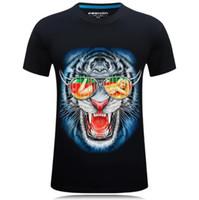 Erkek Tasarımcı Tişörtleri Yaz T-Shirt Erkekler Ve Kadınlar Kısa Kollu Üst Tees Kaplan Kafası Baskılı T Shirt Erkek Giyim Boyutu S-5XL Yüksek Quanlity