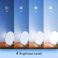 Design mais novo New Funções Luz Terapia de Energia Lâmpada Branco Lâmpadas de Iluminação Interior Lâmpadas Top-Grau Material Iluminação Dobrável Suporte Faz