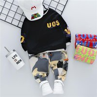 HYLKIDHUOSE Baby Girls Boys Clothing Sets 2020 Autumn T Shirt Camouflage Pants Inafnt Newborn Clothes Kids Children Clothes