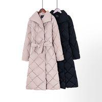 Toppies invierno abrigo largo de las mujeres parkas más gruesa tela escocesa caliente abrigo de burbuja outwearX1016 coreana Puffer chaqueta de moda