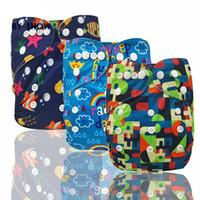 Diseñador bebé lavable pañales reutilizables nadar pañales dibujos animados traje de baño niños ajustable verano nadar pañales pañales