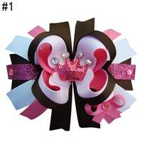 Les cheveux de la livraison gratuite 5''Princess arc arc cheveux couronne avec bébé tout-petit arc de cheveux d'anniversaire strass Clip fille couronne glitery