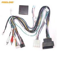 르네 크로오스 / 메가 넷 / 유창함 스테레오 설치 와이어 어댑터를위한 캔버스 박스가있는 Feeldo Car 16pin 오디오 배선 하네스 # 6610