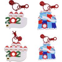 2020 Árvore de Natal Família Detalhes no Bell vermelha Key Buckle Hand Sanitizer Boca Máscara Padrão Series Christmases Pingente DIY Bênção Words