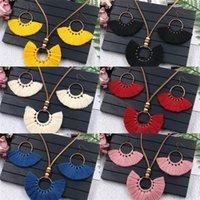 Mode Quasten Schmuckset Retro Böhmen Handmade Beliebte Multi Farben Koreanische Baumeln Frauen Ohrringe Halskette 6 3YH K2B