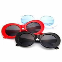 Lunettes de soleil oversize de mode classiques lunettes de soleil ovales classiques rétro hommes sport sport conduite lunettes vintage femme punk rocher verre TTA-1136
