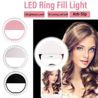 جولة LED ضوء فلاش خاتم التعبئة كليب كاميرا الهاتف الجوال الصور الشخصية للمصباح حصول على الهاتف الخليوي الذكي
