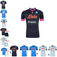 20 21 Napoli Jersey Football 2020 2021 Koulibaly Camiseta de F ú Tbol Insigne Maradona Mertens di alta qualità Adulto + Bambini Set di calcio