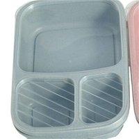 Plastic Vierkante Lunchbox Student Tarwe Voedsel Opslag Keuken Organizer Bento Cake Seal Up Case Food Grade Hot Sale 3 2HH F2