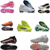 2020 جديد mercurial superfly vii 7 النخبة 360 fg soccer shoes cr7 se فلاش قرمزي رجل chaussure دي القدم كرة القدم الأحذية عالية الكاحل المرابط