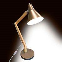 حار بيع elightup الكلاسيكية مصغرة الأزياء متجمد المعادن عاكس الضوء و قوس خشبي الملمس الجدول دراسة مصباح مع مصدر ضوء الولايات المتحدة