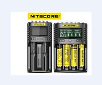100% Nitecore UM4 Carregador de Bateria Cirurgia Inteligente Seguro Global Li-ion 18650 21700 26650 LCD Display Carregador de Bateria UM2
