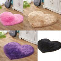 Tappeto in lana imitazione amore a forma di cuore grande soggiorno peluche tappeti di moda puro colore divano cuscino 21xb3 j2